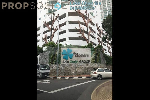 For Rent Condominium at The Clovers, Sungai Ara Freehold Semi Furnished 2R/2B 1.1k