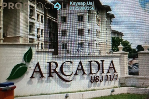For Rent Apartment at Arcadia, UEP Subang Jaya Freehold Unfurnished 3R/2B 1.3k