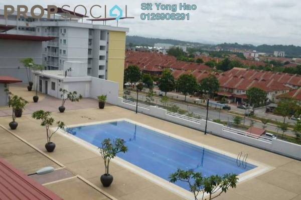 For Rent Condominium at Kristal Heights, Shah Alam Freehold Fully Furnished 3R/2B 1.8k