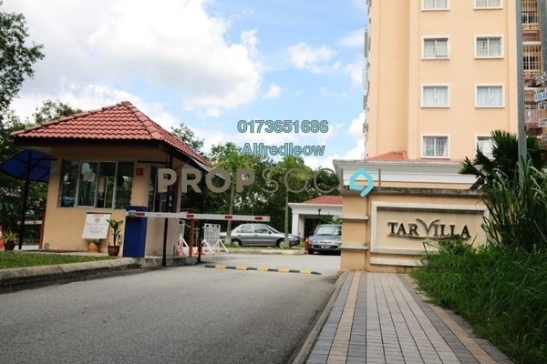 For Rent Condominium at TAR Villa, Setapak Freehold Semi Furnished 3R/2B 1.4k