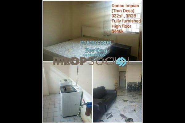 For Sale Condominium at Danau Impian, Taman Desa Freehold Fully Furnished 3R/2B 440k