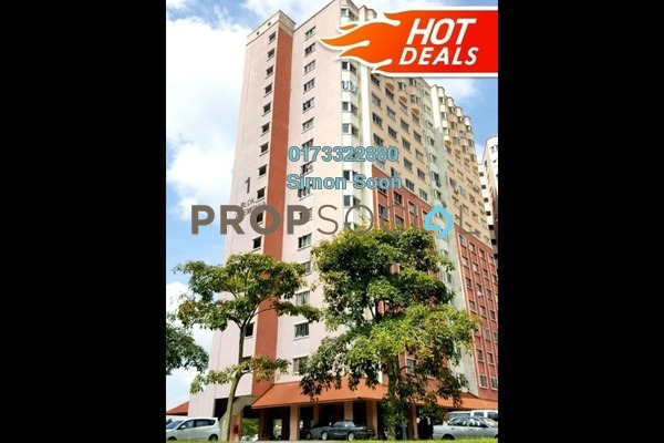 For Sale Condominium at Desaminium Flora, Bandar Putra Permai Freehold Fully Furnished 3R/2B 318k