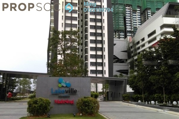 For Rent Condominium at Lakeville Residence, Jalan Ipoh Freehold Unfurnished 3R/2B 2.1k