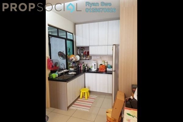 For Sale Apartment at Greenview Apartment, Kepong Freehold Semi Furnished 3R/2B 180k