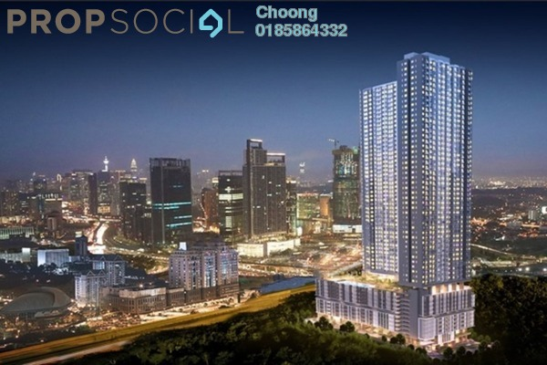 For Sale Condominium at South Link Lifestyle Apartments, Bangsar South Freehold Fully Furnished 2R/1B 520k