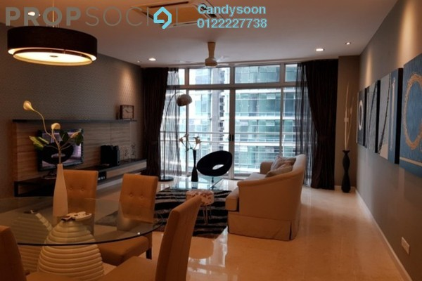 For Rent Condominium at Idaman Residence, KLCC Freehold Fully Furnished 3R/4B 5k