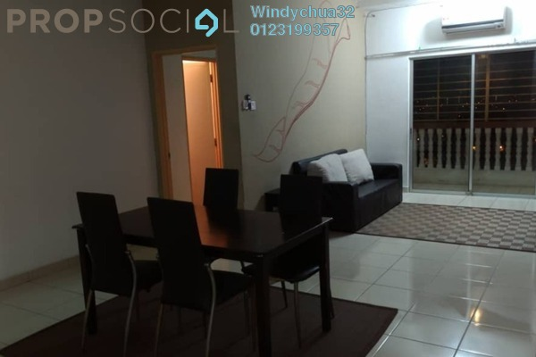 For Rent Apartment at Sri Ixora Apartment, Kajang Freehold Fully Furnished 3R/2B 1.2k