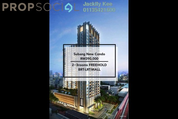 For Sale Serviced Residence at Kenwingston Sky Loft, UEP Subang Jaya Freehold Semi Furnished 2R/2B 380k
