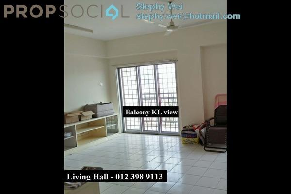 For Rent Condominium at Taman Dagang, Ampang Freehold Semi Furnished 4R/2B 1.6k