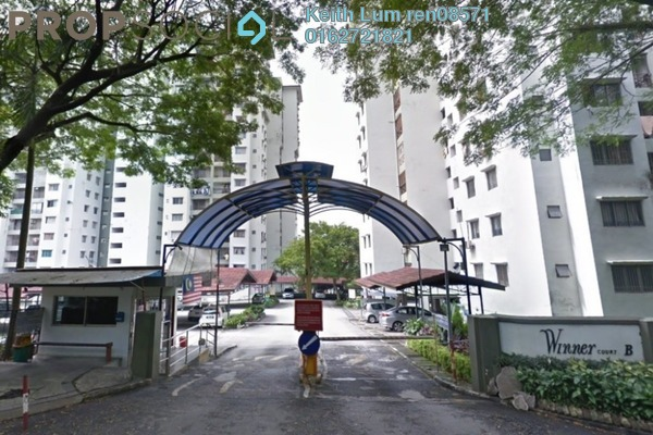 For Sale Condominium at Winner Court B, Desa Petaling Freehold Fully Furnished 3R/2B 360k