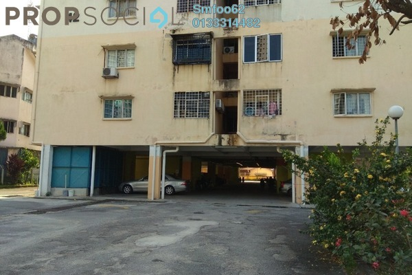 For Rent Condominium at Teratai Mewah Condominium, Setapak Freehold Semi Furnished 3R/2B 1.3k