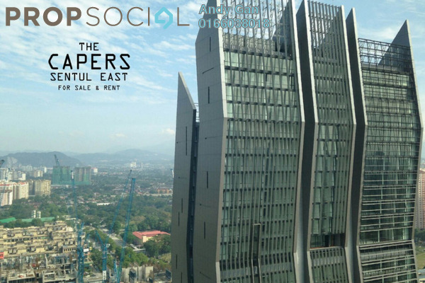 For Rent Condominium at The Capers, Sentul Freehold Fully Furnished 3R/4B 4.5k