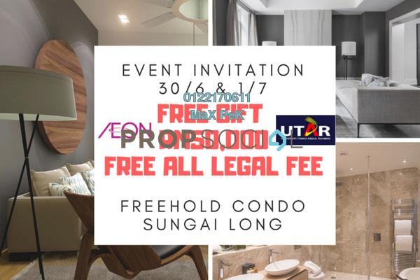 For Sale Condominium at Iris Residence, Bandar Sungai Long Freehold Unfurnished 4R/3B 482k