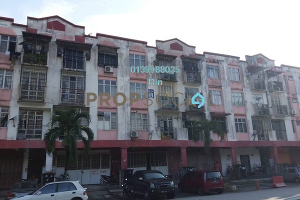 For Sale Apartment at Taman Lestari Perdana, Bandar Putra Permai Freehold Semi Furnished 3R/2B 120k