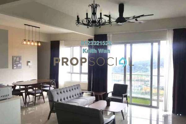 For Rent Condominium at Villa Crystal, Segambut Freehold Fully Furnished 3R/3B 2.5k