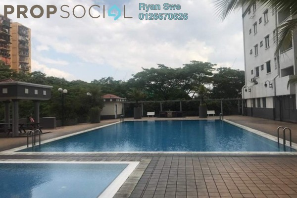 For Sale Condominium at Kenanga Point, Pudu Freehold Semi Furnished 3R/2B 398k
