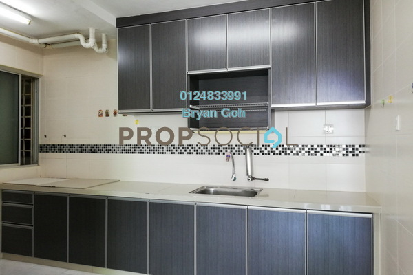 For Rent Apartment at Harmony View, Jelutong Freehold Semi Furnished 3R/1B 1k