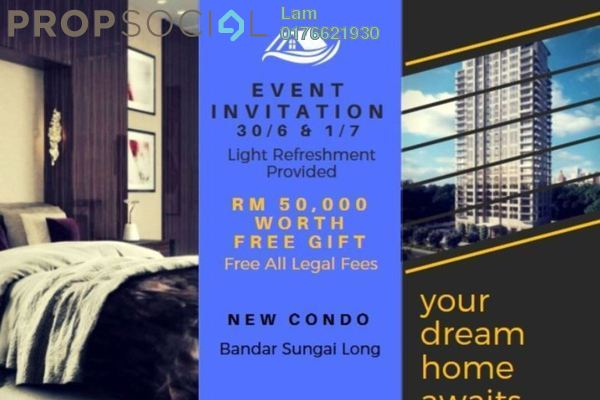 For Sale Condominium at Iris Residence, Bandar Sungai Long Freehold Unfurnished 3R/2B 431k
