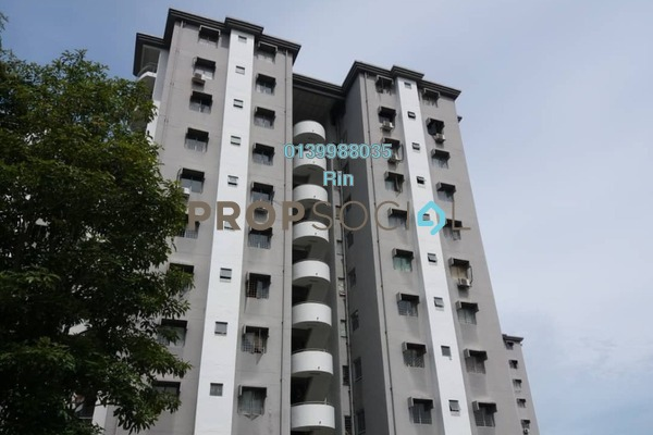 For Sale Apartment at Gardenia Court, Gombak Freehold Semi Furnished 3R/2B 340k