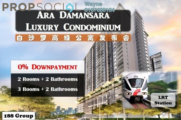 For Sale Serviced Residence at AraTre' Residences, Ara Damansara Freehold Fully Furnished 3R/2B 650k