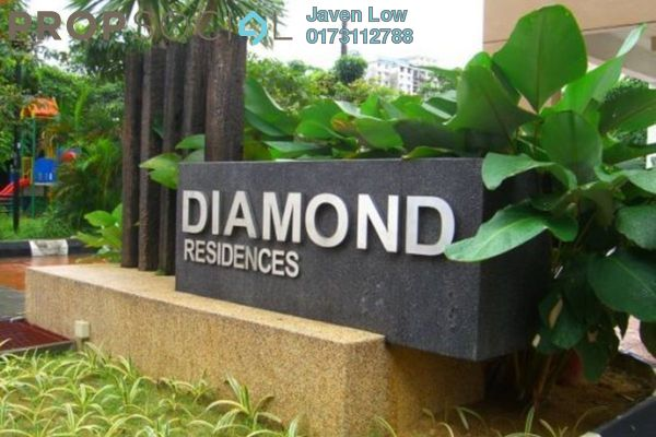 For Sale Condominium at Diamond Residences, Setapak Freehold Semi Furnished 4R/2B 628k