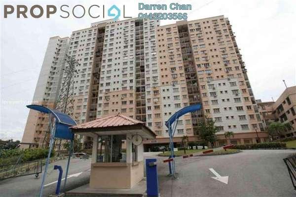 For Rent Apartment at Jati Selatan Apartment, Desa Petaling Freehold Fully Furnished 2R/2B 1.2k