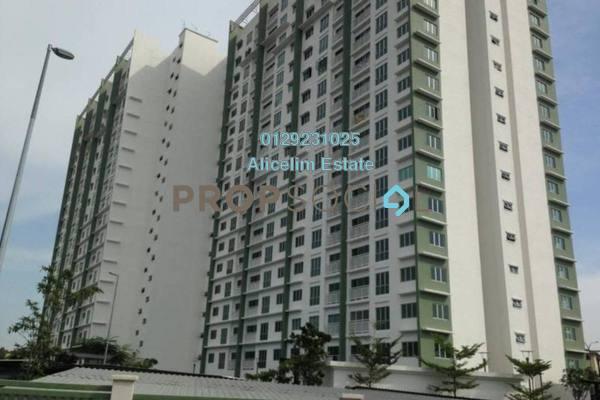 For Rent Condominium at Hijauan Puteri, Bandar Puteri Puchong Freehold Semi Furnished 3R/2B 1.4k