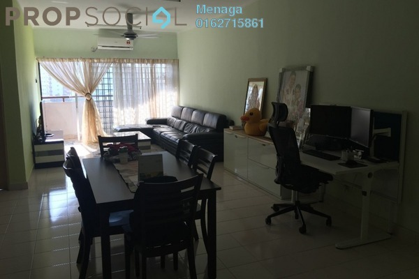 For Rent Apartment at Desa Saujana, Seri Kembangan Freehold Fully Furnished 3R/2B 1.4k