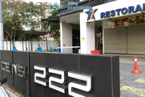 For Rent Condominium at 222 Residency, Setapak Freehold Fully Furnished 3R/2B 1.8k