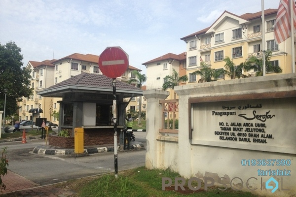 For Rent Apartment at Seroja Apartment, Bukit Jelutong Freehold Unfurnished 3R/2B 1.1k