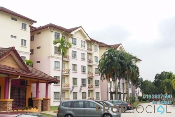 For Rent Apartment at Delima Apartment, Bukit Jelutong Freehold Unfurnished 3R/2B 1k