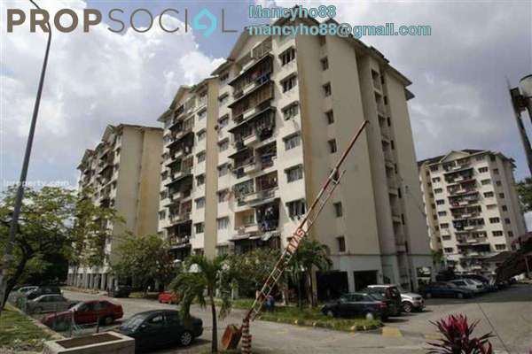 For Rent Apartment at Seri Ixora Apartment, Shah Alam Freehold Semi Furnished 3R/2B 1.1k