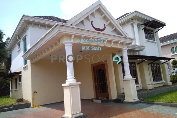 For Sale Bungalow at Taman Bukit Saga, Shah Alam Freehold Fully Furnished 6R/5B 2.5m
