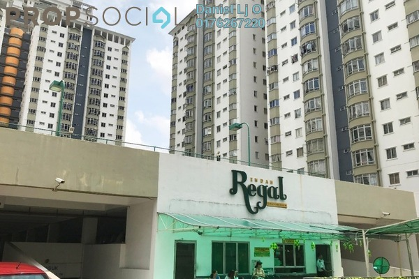 For Rent Condominium at Endah Regal, Sri Petaling Freehold Semi Furnished 3R/2B 1.4k