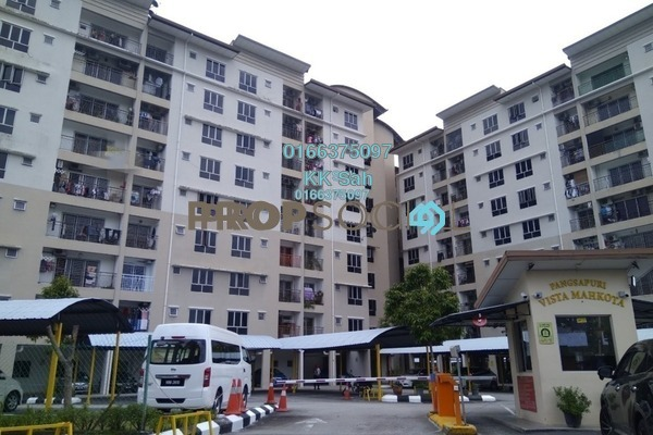 For Sale Apartment at Vista Mahkota Apartment, Bandar Mahkota Cheras Freehold Semi Furnished 3R/2B 268k