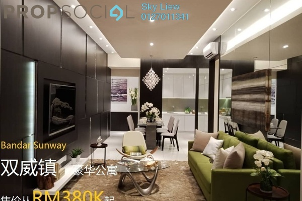 For Sale Condominium at Greenfield Residence, Bandar Sunway Freehold Semi Furnished 2R/2B 388k
