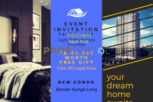 For Sale Condominium at Iris Residence, Bandar Sungai Long Freehold Unfurnished 3R/2B 432k