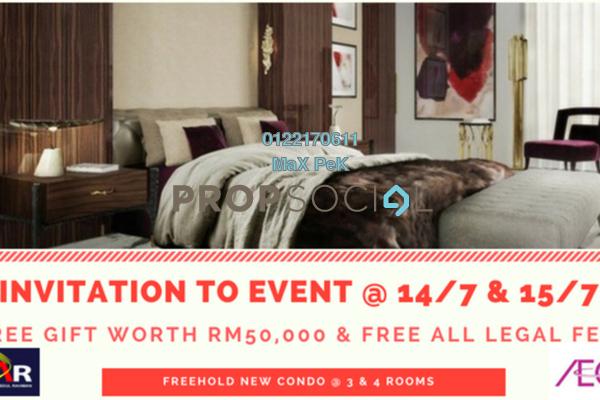 For Sale Condominium at Iris Residence, Bandar Sungai Long Freehold Unfurnished 3R/2B 433k
