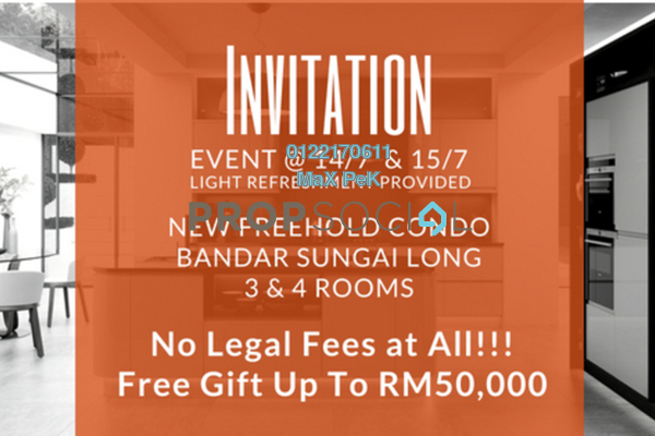 For Sale Condominium at Iris Residence, Bandar Sungai Long Freehold Unfurnished 3R/2B 434k
