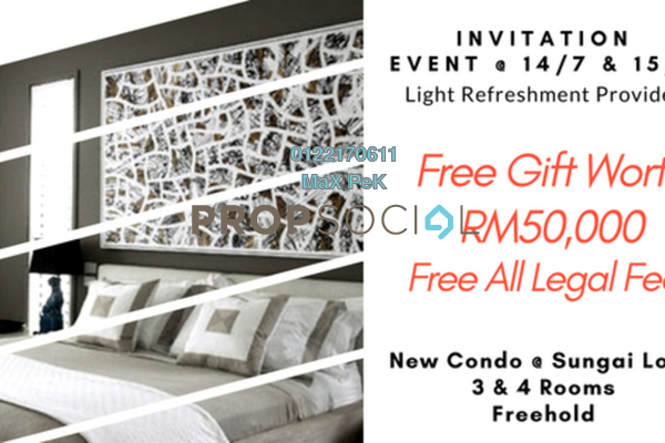 For Sale Condominium at Iris Residence, Bandar Sungai Long Freehold Unfurnished 3R/2B 435k