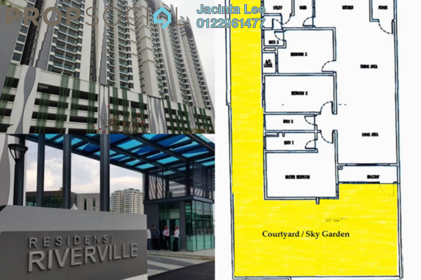 For Sale Condominium at Riverville Residences, Old Klang Road Freehold Semi Furnished 4R/3B 576k