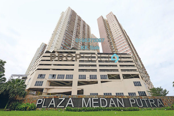 For Rent Serviced Residence at Plaza Medan Putra, Bandar Menjalara Freehold Semi Furnished 4R/2B 1.35k