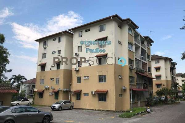 For Sale Apartment at Jasmine Court, Bandar Puchong Jaya Freehold Semi Furnished 3R/2B 318k