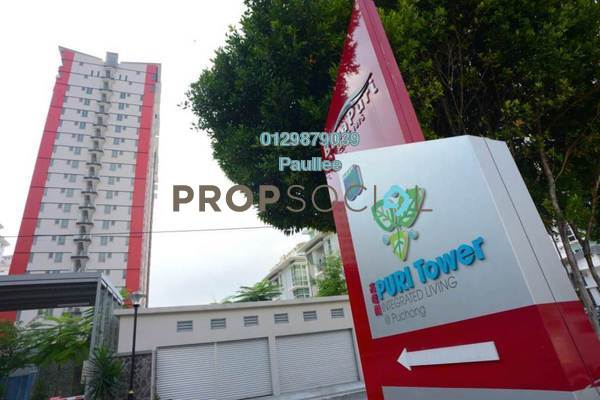 For Rent Condominium at Puri Tower, Puchong Freehold Semi Furnished 3R/2B 1.3k