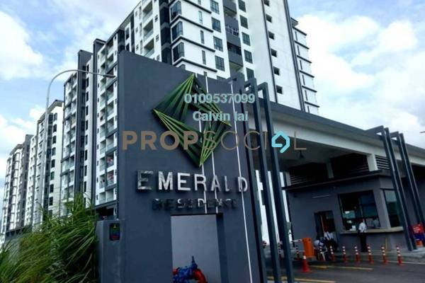 For Sale Condominium at Emerald Residence, Bandar Mahkota Cheras Freehold Semi Furnished 3R/2B 493k