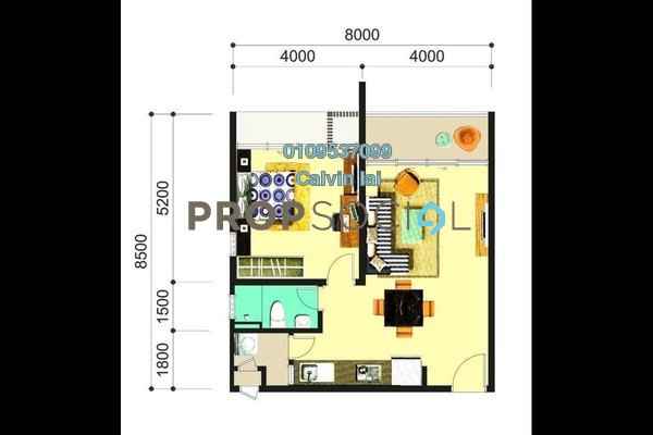For Sale Condominium at The Atlantis Residences, Melaka Freehold Unfurnished 1R/1B 420k
