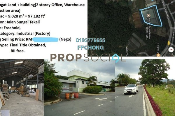 For Sale Factory at Kampung Rantau Panjang, Hulu Langat Freehold Semi Furnished 0R/0B 17m