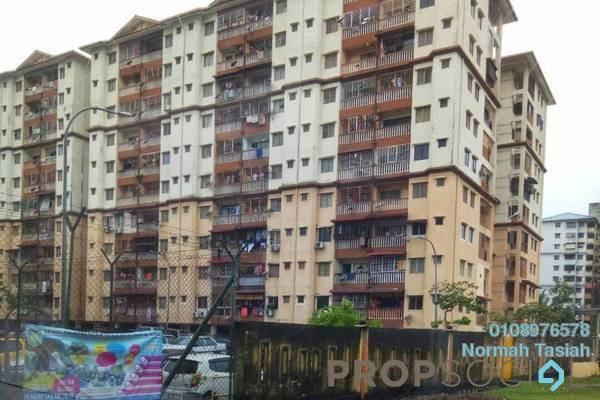 For Sale Apartment at Taman Tun Teja, Rawang Freehold Semi Furnished 3R/2B 188k