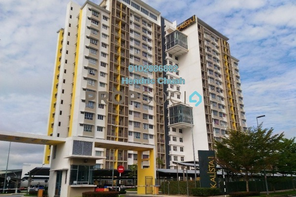 For Rent Condominium at Kalista Residence, Seremban 2 Freehold Semi Furnished 3R/2B 1.7k