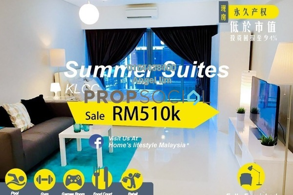 For Sale Condominium at Summer Suites, KLCC Freehold Fully Furnished 1R/1B 510k